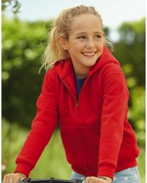 Hoodie Fruit of the Loom Zip Kinderen